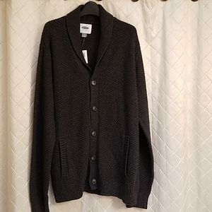 Old Navy Sweaters - Old Navy men's dark grey cardigan size large NWT